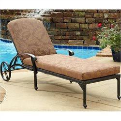 Chaise Lounge with Charcoal Color Cushions