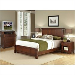 3 Piece Bedroom Set in Rustic Cherry