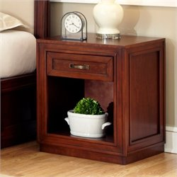 Home Styles Duet Storage Night Stand in Cherry Finish