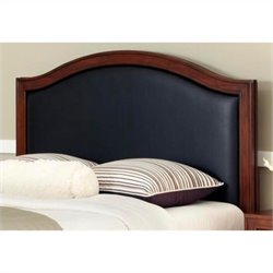 Home Styles Duet Camelback Panal Headboard in Black