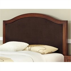 Home Styles Duet Camelback Panel Headboard in Brown