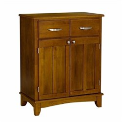 Furniture Wood Buffet Server in Cottage Oak