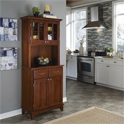 Furniture Cherry Wood Buffet with 2-Door Panel Hutch