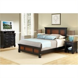 Bedroom Set in Black Cherry