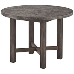 Round Dining Table in Brown and Gray