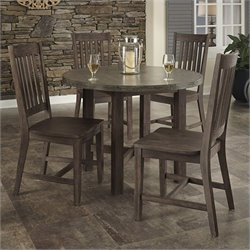 5 Piece Dining Set in Brown and Gray