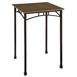 Home Styles Modern Craftsman Bistro Table in Oak and Brown