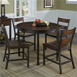 Home Styles Cabin Creek 5 Pieces Dining Set in Multi-step Chestnut