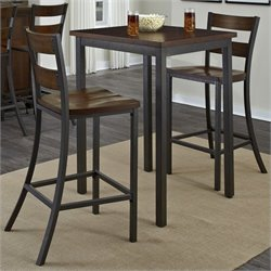 3 Pieces Bistro Set in Multi-step Chestnut