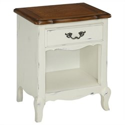 Night Stand in Oak and Rubbed White