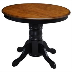 Pedestal Table in Oak and Rubbed Black