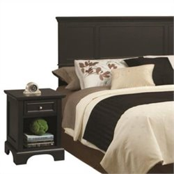 King Headboard with Night Stand in Black
