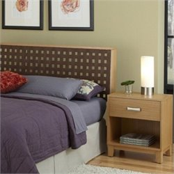 Headboard with Night Stand in Highlighted Blonde