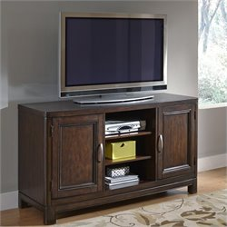 56 Inch TV Stand in Two Tone Tortoise Shell
