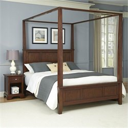 Canopy Bed and Night Stand