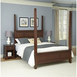 Home Styles Chesapeake Poster Bed and Two Night Stands