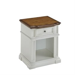 Night Stand in White and Oak