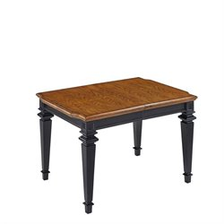 Rectangular Dining Table in Black Oak