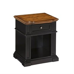 Night Stand in Black and Oak