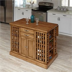 Kitchen Island in Warm Oak