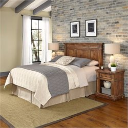 Headboard 3 Piece Bedroom Set in Natural Acacia