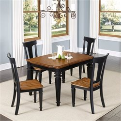 5 Piece Dining Set in Black Oak