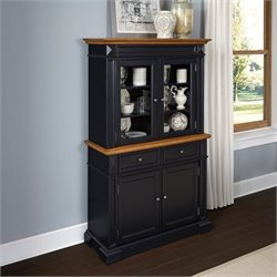Buffet and Hutch in Black Oak