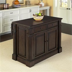Kitchen Island Cart in Black Oak
