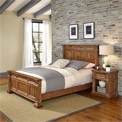 King 2 Piece Bedroom Set in Natural Acacia
