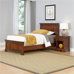 Home Styles Chesapeake Twin 2 Piece Bedroom Set in Cherry