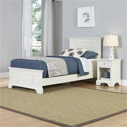 Twin 2 Piece Bedroom Set in White