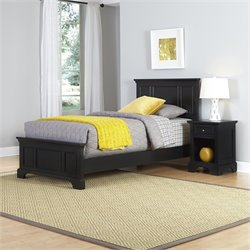 Twin 2 Piece Bedroom Set in Black