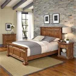 King 3 Piece Bedroom Set in Natural Acacia