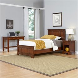 Home Styles Chesapeake Twin 3 Piece Bedroom Set in Cherry