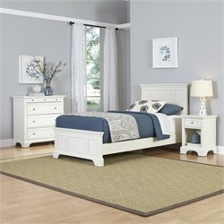 Twin 3 Piece Bedroom Set in White
