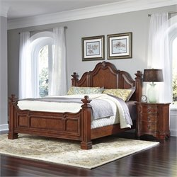 King 2 Piece Bedroom Set in Cognac