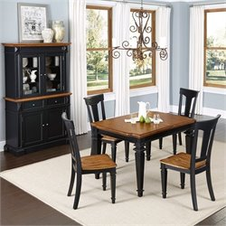 6 Piece Dining Set in Black Oak