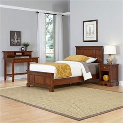 Twin 4 Piece Bedroom Set in Cherry