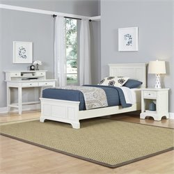 Twin 4 Piece Bedroom Set in White