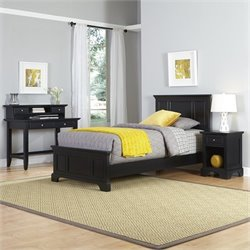 Twin 4 Piece Bedroom Set in Black