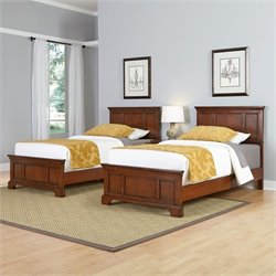 Home Styles Chesapeake Two Twin Beds and Night Stand in Cherry