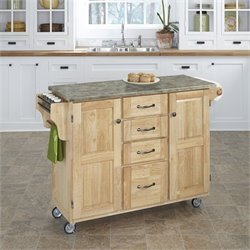 Concrete Top Kitchen Cart in Natural