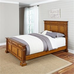 Panel Bed in Oak