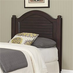 Wood Shutter Twin Headboard in Espresso
