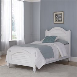Wood Twin Bed in White