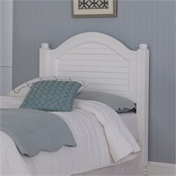 Wood Shutter Twin Headboard in White