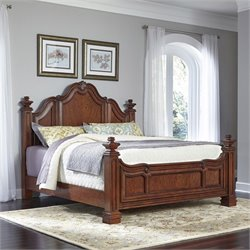 Wood King Bed in Cognac