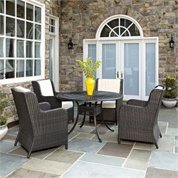 5 Piece Patio Dining Set in Charcoal