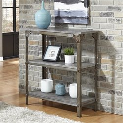 3 Shelf Console Table in Aged Metal