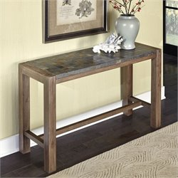 Console Table in Wire Brushed with Slate Top